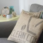 Coffee Sack Pillow DIY