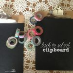 Back to School Chalkboard Clipboard