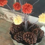Yarn Pom Pom Fall Centerpiece