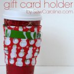 Sew it: Coffee Cozy Gift Card Holder