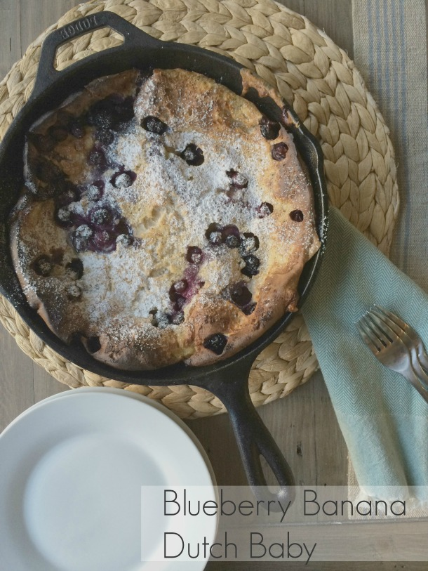 Blueberry Banana Dutch Baby