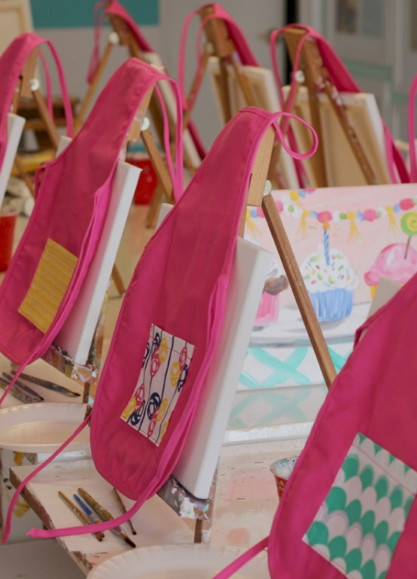 DIY Children's Painting Aprons