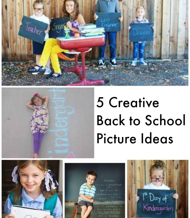 5 Creative Back to School Picture Ideas