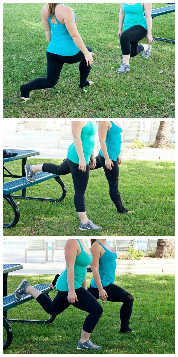 lunges Collage