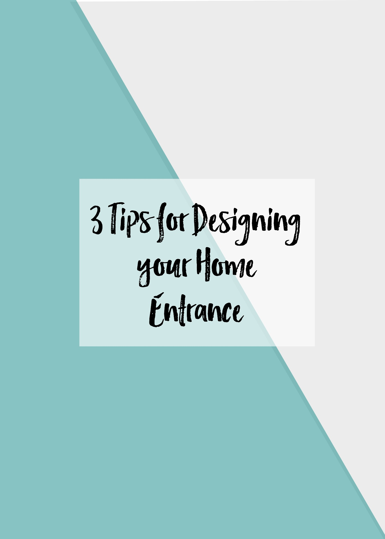 3 tips for designing your home u0027s entry way