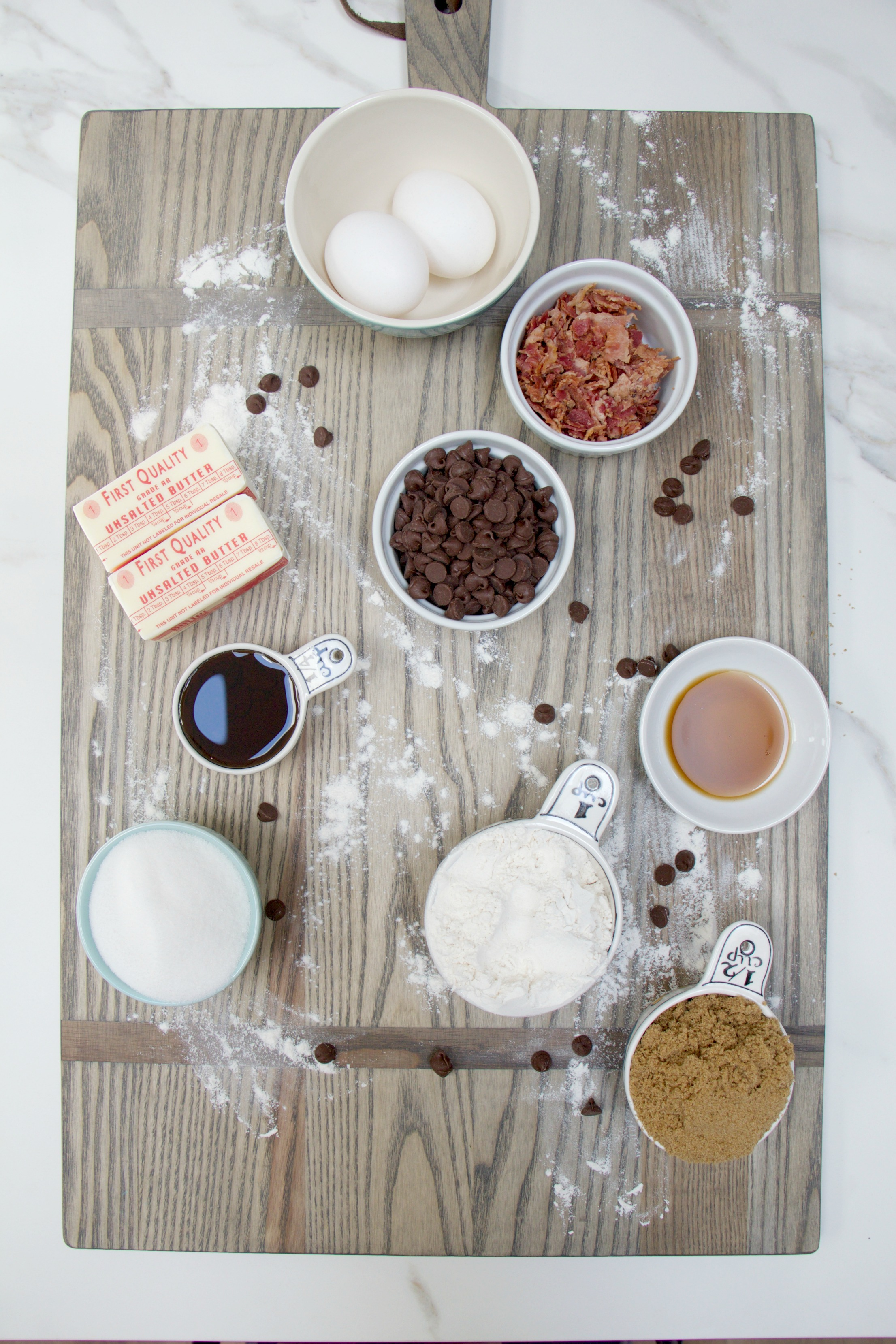 Maple Bacon Chocolate Chip Cookie Ingredients